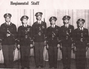 1950-1951 Dunbar HIgh Cadet Corps - Regimental Staff