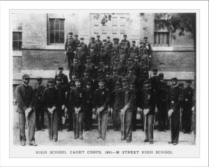 M Street High School Cadet Corps 1895